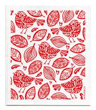 Swedish dishcloth Robins Red