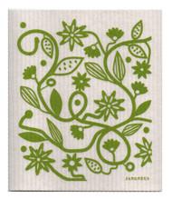 Eco-friendly doodle green dishcloth