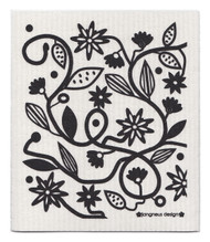 Eco-friendly doodle black dishcloth