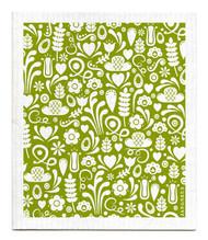 Jangneus Swedish dishcloth, Green Dala, 100% biodegradable
