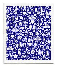 Jangneus Swedish dishcloth, Blue Dala, 100% biodegradable