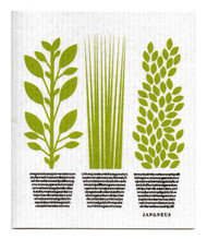 Jangneus Swedish dishcloth, Herbs Green, 100% biodegradable