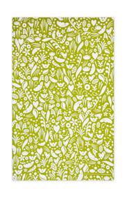 Jangneus Swedish Tea Towels - Dala - Green - 100% cotton