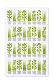 Jangneus - Swedish Tea Towels - Herbs - Green - 100% cotton