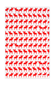 Swedish Kitchen Towels - Moose - Red