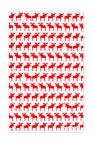 Swedish Kitchen Towels - Moose - Red