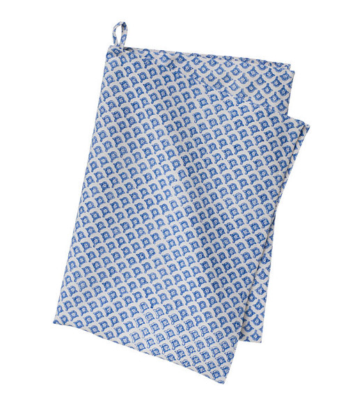 Colorful Cotton Kitchen Towel - Meena - Blue