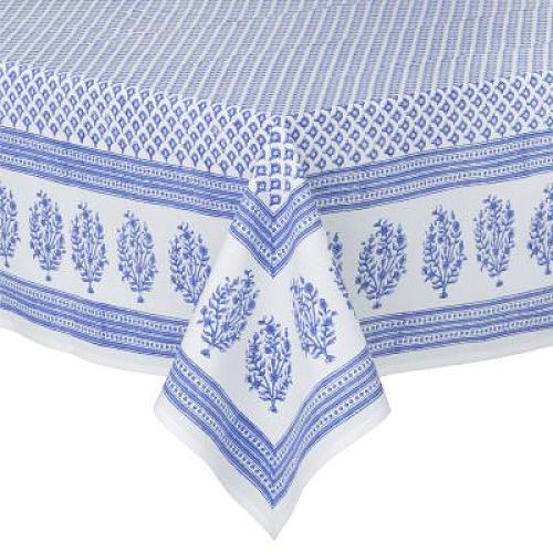 Tablecloth - Meena - Blue from Bungalow in Denmark