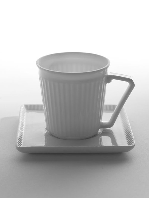 Espresso Cup & Saucer- Creased - Porcelain from Serax in belgium