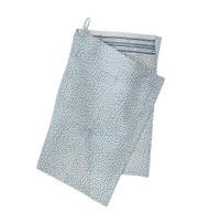 Contemporary High Quality Kitchen Towel - Mini Leaf - Dusty Blue