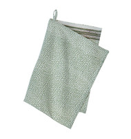 Contemporary High Quality Kitchen Towel - Mini Leaf - Dusty Green