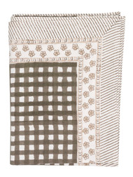 Tablecloth from Chamois in Denmark - Check - Brown
