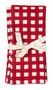 "Napkin from Chamois in Denmark - Check - Red - Set of 2 - 20"" SQ"