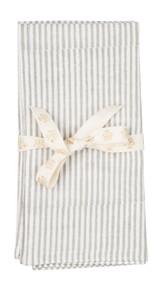 Napkin - Stripe - Grey - Set of 2