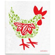 Swedish Dishcloth - Hen - Green