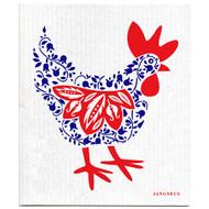 Swedish Dishcloth - Hen - Blue