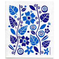 Swedish Dishcloth - Garden - Blue