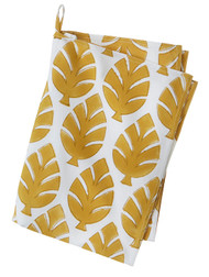Contemporary kitchen towel - Neem Mega - Curry - Cotton