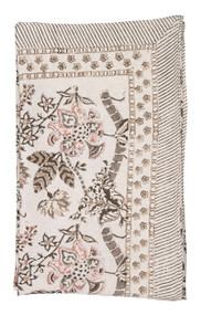 Beige Floral Tablecloth from Chamois in Denmark.