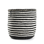 Kiondo Basket - Thin Stripes Black & White