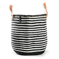 Kiondo Basket - Thin Stripes Black & White with Handle
