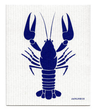 Jangneus Swedish dishcloth, Crayfish - Blue, 100% biodegradable