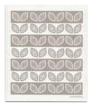 Swedish Dishcloth - Leaves - Grey