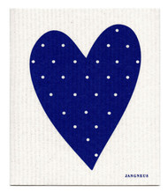 Swedish Dishcloth - Heart - Blue