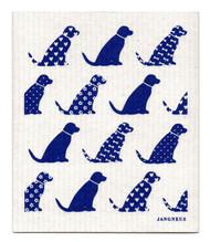 Swedish Dishcloth - Dogs - Blue