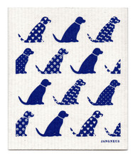 Swedish Dishcloth - Dogs - Blue