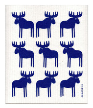 Swedish Dishcloth - Moose - Blue