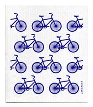 Swedish Dishcloth - Bikes- Blue