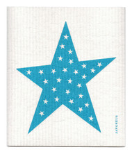Swedish Dishcloth - Big Star - Turquoise