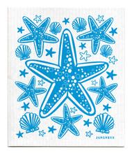 Swedish Dishcloth - Starfish - Turquoise