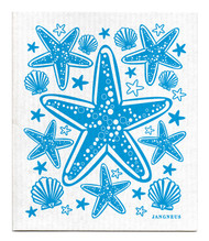 Swedish Dishcloth - Starfish - Turquoise