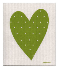 Swedish Dishcloth - Heart - Green