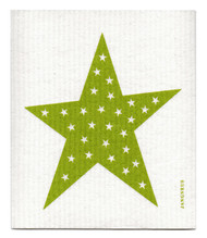 Swedish Dishcloth - Big Star - Green