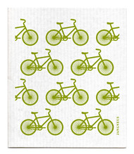 Swedish Dishcloth - Bikes - Green