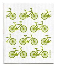 Swedish Dishcloth - Bikes - Green