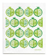 Swedish Dishcloth - Pomegranate - Green