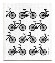 Swedish Dishcloth - Bikes - Black