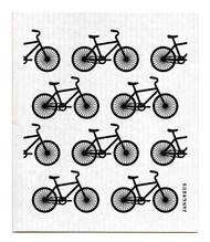 Swedish Dishcloth - Bikes - Black