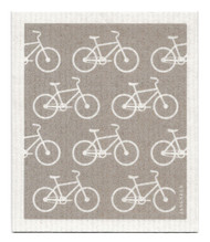 Swedish Dishcloth - Bikes - Grey