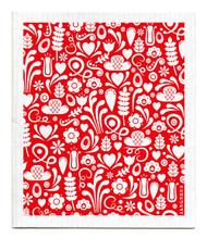 Swedish Dishcloth - Dala - Red