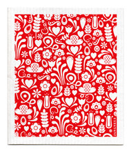 Swedish Dishcloth - Dala - Red