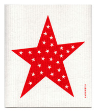 Swedish Dishcloth - Big Star - Red