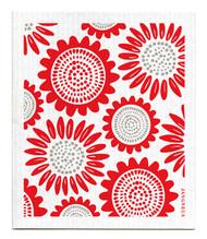 Swedish Dishcloth - Sunflower - Red