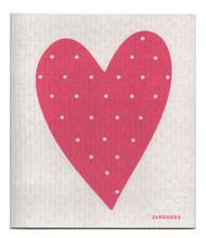 Swedish Dishcloth - Heart - Pink