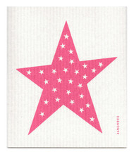 Swedish Dishcloth - Big Star - Pink