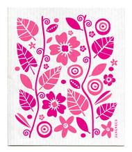 Swedish Dishcloth - Garden - Pink